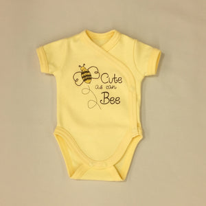 NICU Friendly Kimono Baby Bodysuit Cute As Can Bee Made in Canada