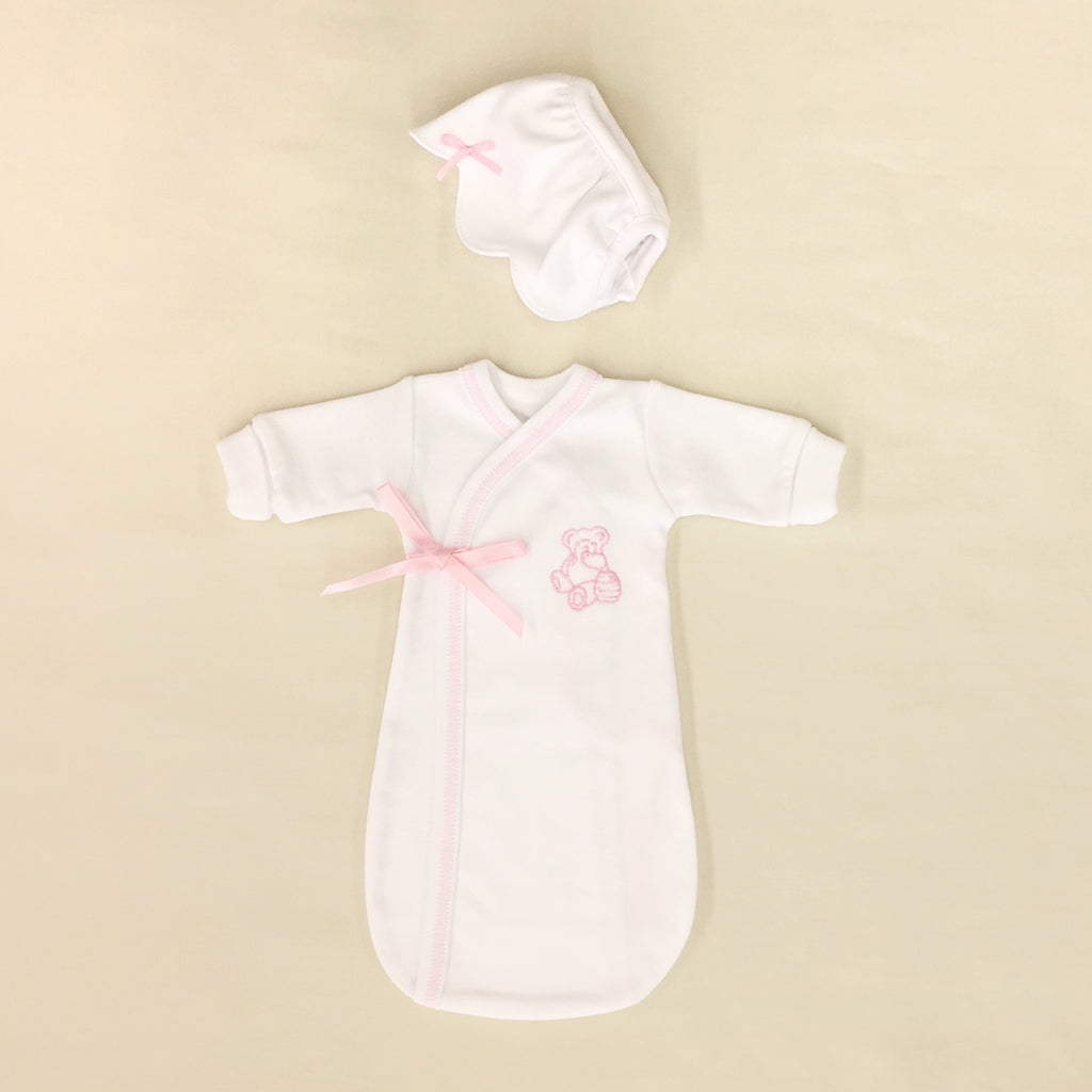 Loved Bereavement Preemie Baby Burial Gown Pink Made in Canada