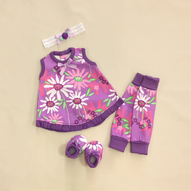 Sleeveless NICU Ruffle Jumper Set - WildFlower