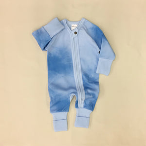 Zip Sleep & Play Suit Blue