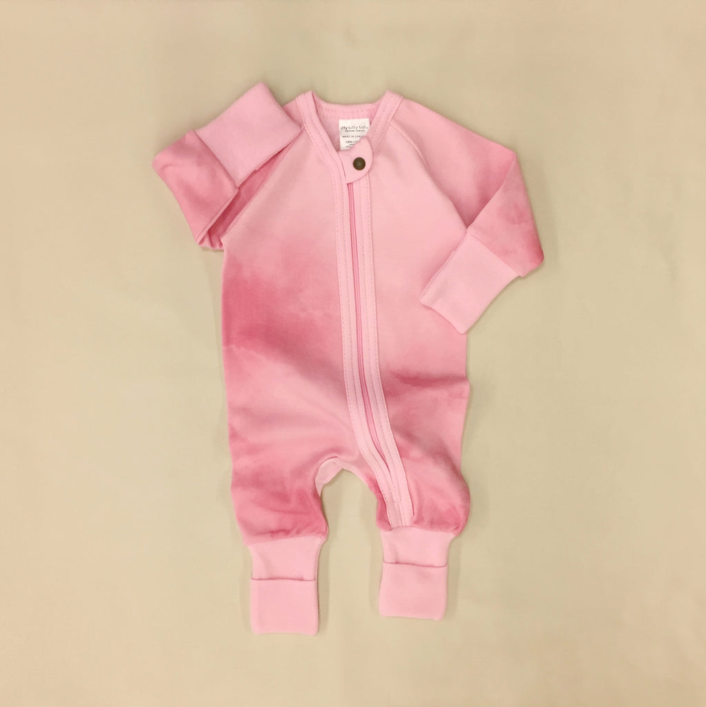 Zip Sleep & Play Suit Pink