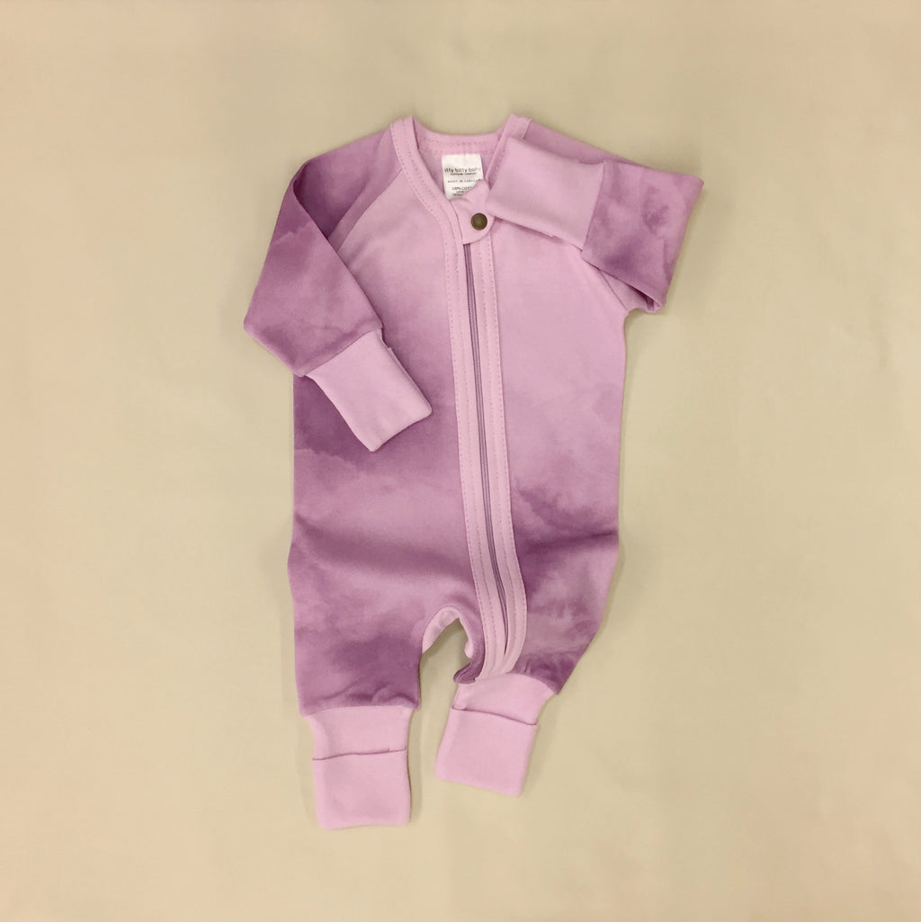 Zip Sleep & Play Suit Lilac