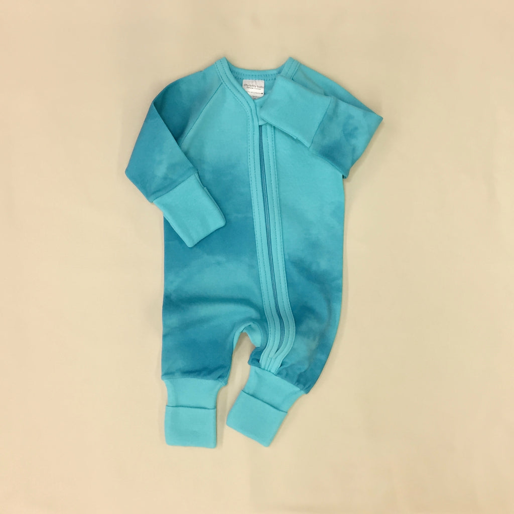 Zip Sleep & Play Suit Turquoise