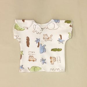 cotton NICU Friendly T shirt Best Preemie clothes Made in Canada by Itty Bitty Bab
