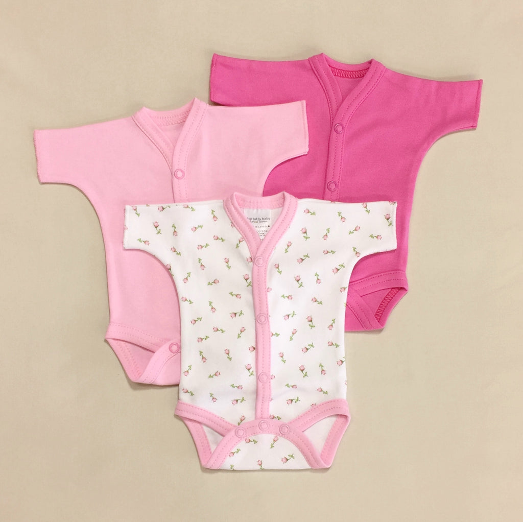 Pink Snap Front Bodysuit 3 pack