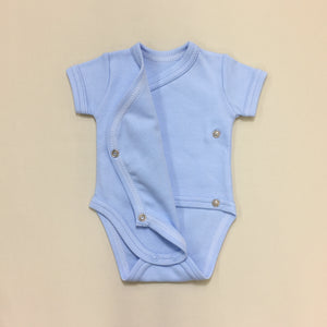 NICU Friendly Kimono Baby Bodysuit I Woke Up This Cute Blue Made in Canada