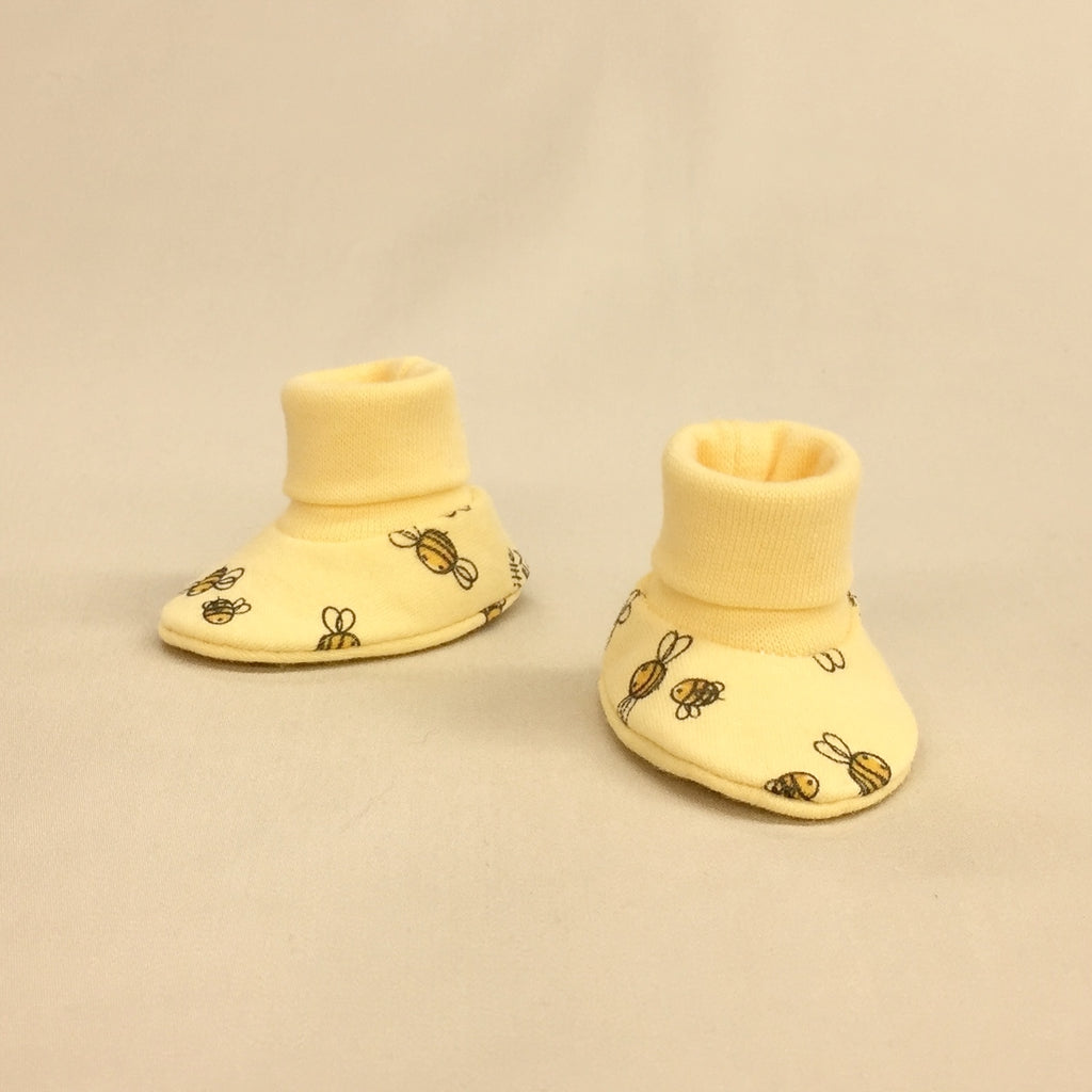 NICU Honey Bee cotton preemie baby booties socks