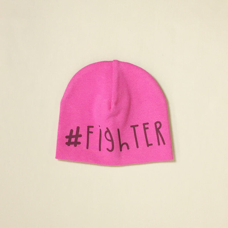#fighter preemie baby graphic beanie NICU Approved