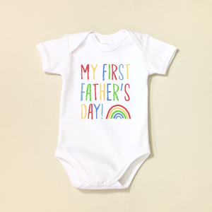 My First Father's Day Lap Shoulder Bodysuit Made in Canada