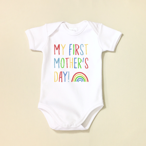 My First Mother's Day Lap Shoulder Bodysuit Made in Canada