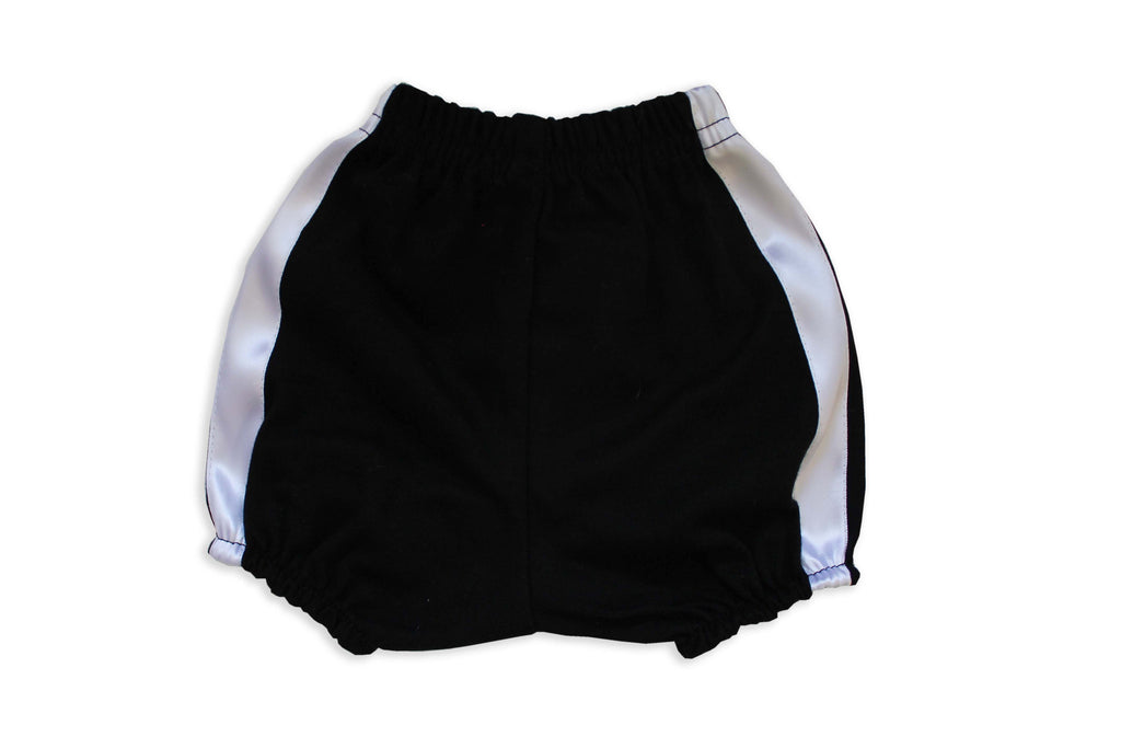 Faux Fly Black Diaper Cover - back view