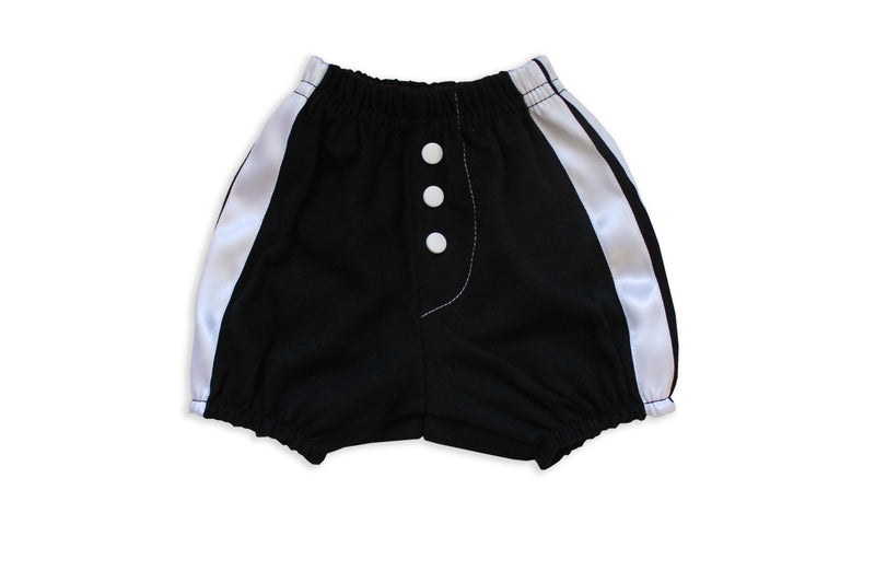 Faux Fly Black Diaper Cover with button detail.