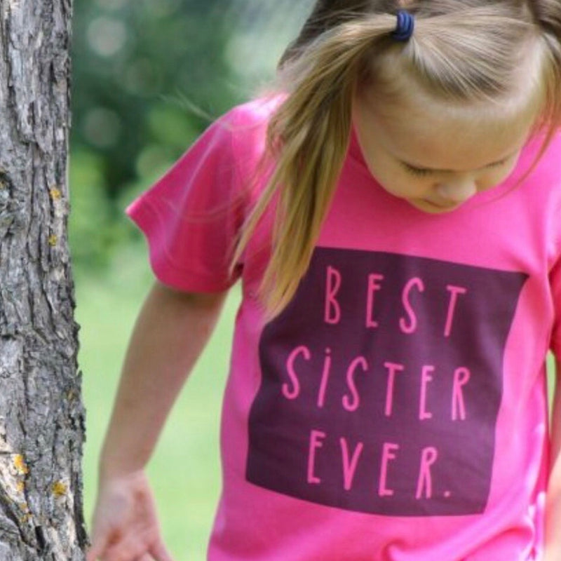 Best Sister Ever T shirt Toddler Childrens Apparel Made in Canada