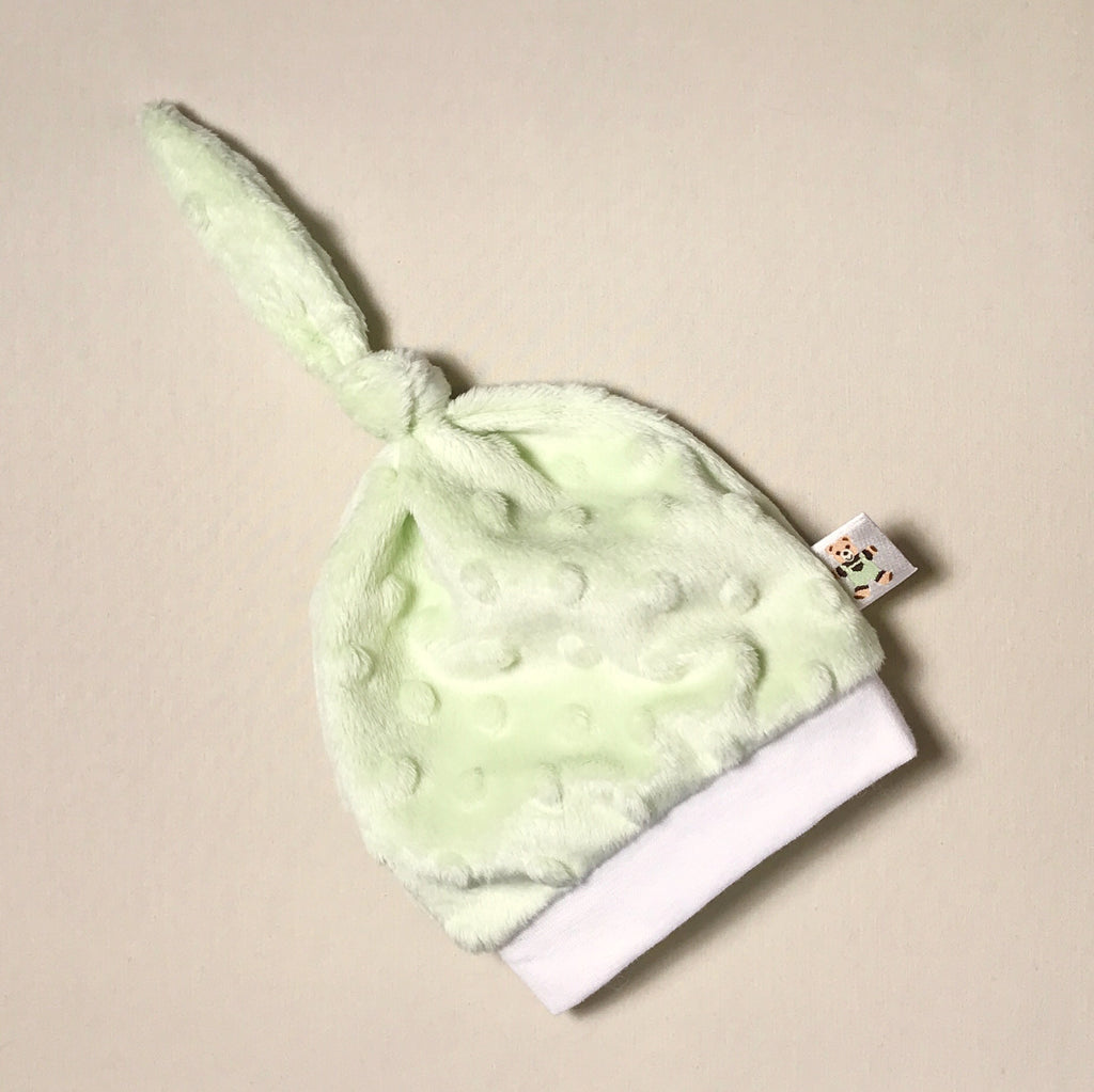 Minky Knot Top Hat Green