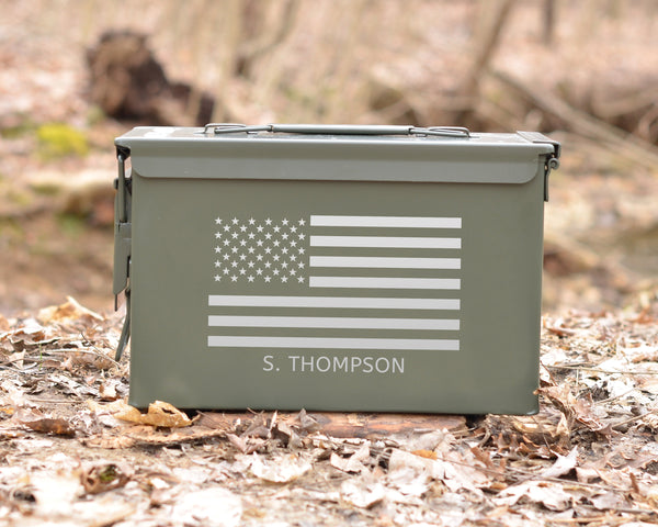 Personalized Ammo Can American Flag
