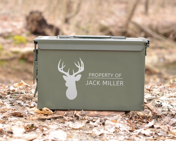 Personalized Ammo Can Deer Head Hunter