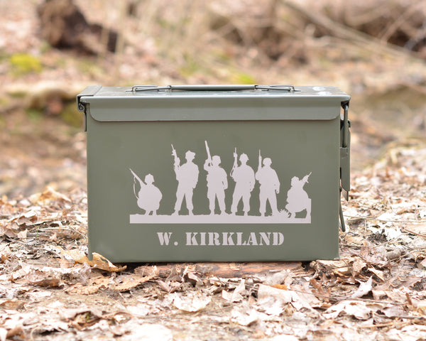 Personalized Ammo Can Military
