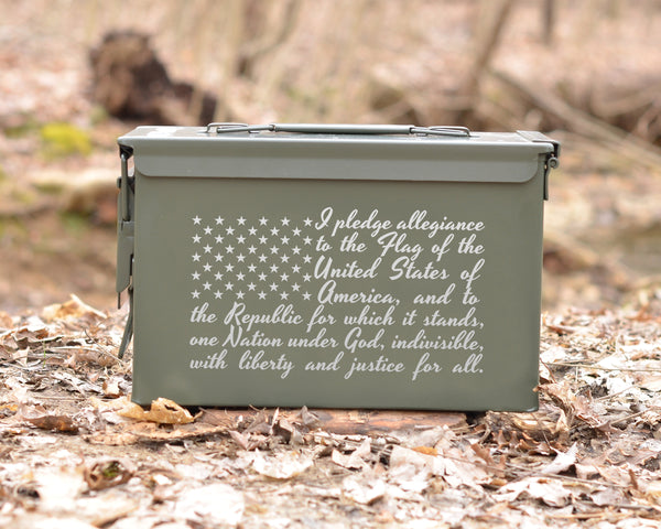 Personalized Ammo Can Pledge Of Alligence