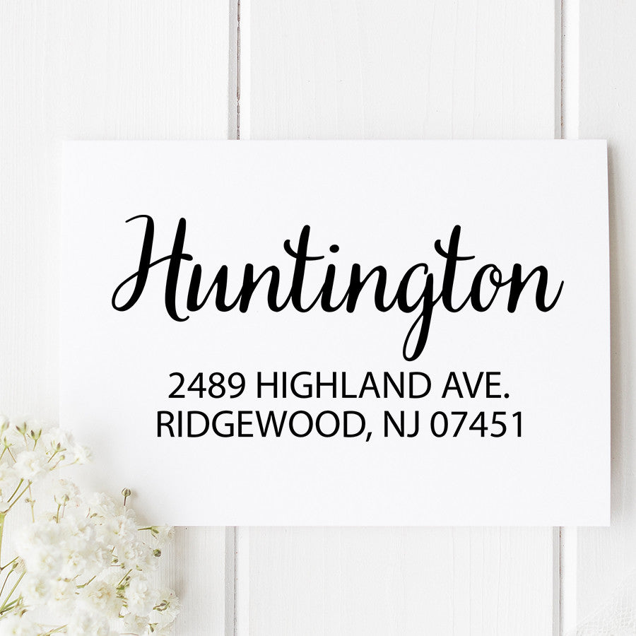 Huntington Custom Address Stamp D106
