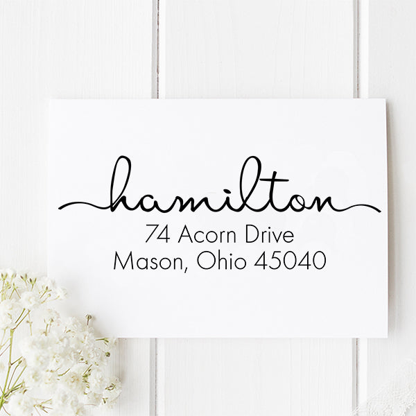 Hamilton Return Address Stamp D112