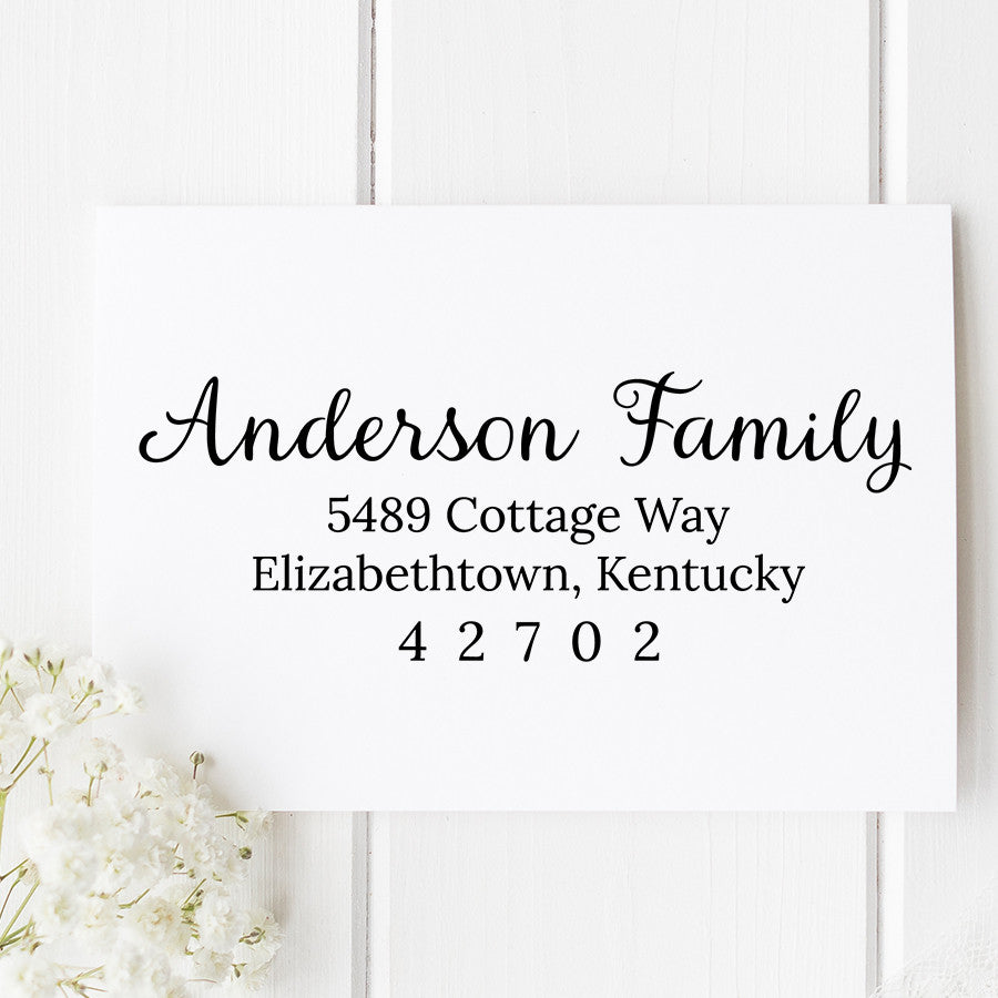 Anderson Custom Return Address Stamp D139