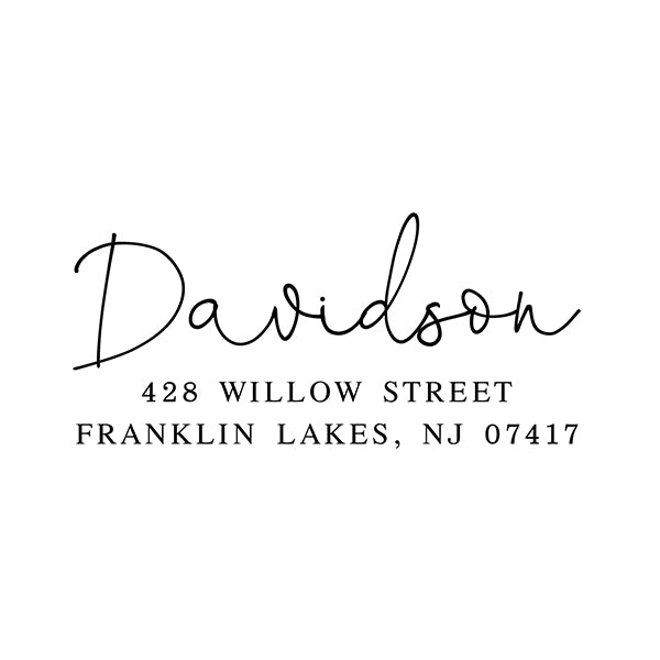 Davidson Self Inking Return Address Stamp - Stamp Nouveau