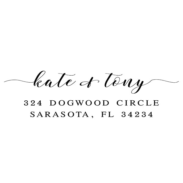 Dogwood Self Inking Address Stamp - Stamp Nouveau