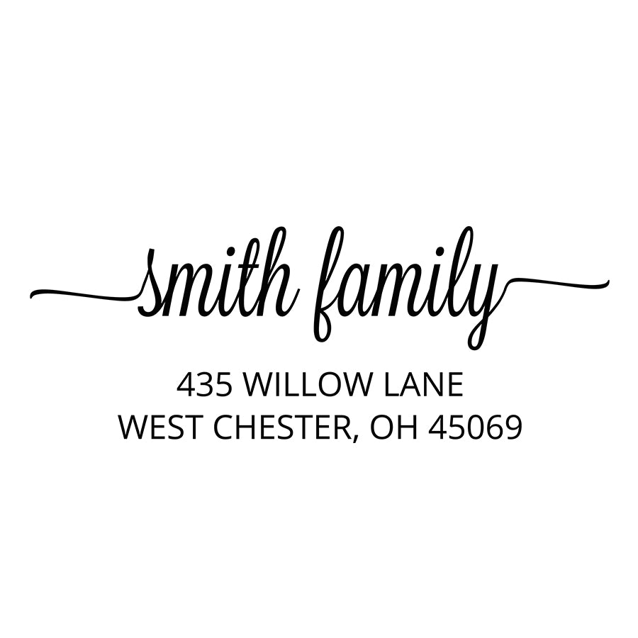 Willow Return Address Stamp  D372