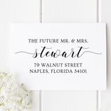 Future Mr. & Mrs. Return Address Stamp D373 - Stamp Nouveau