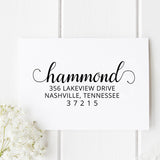 Hammond Return Address Stamp - Stamp Nouveau