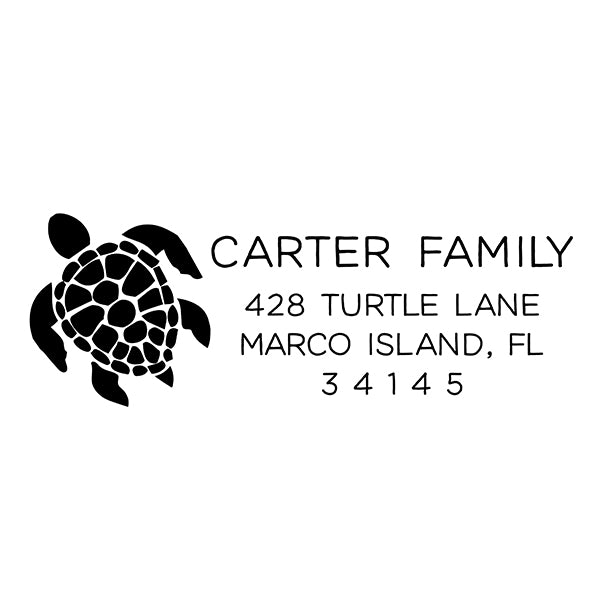 Sea Turtle Return Address Stamp D380