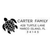 Sea Turtle Return Address Stamp D380 - Stamp Nouveau