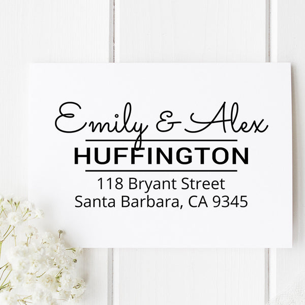 Huffington Custom Address Stamp D3