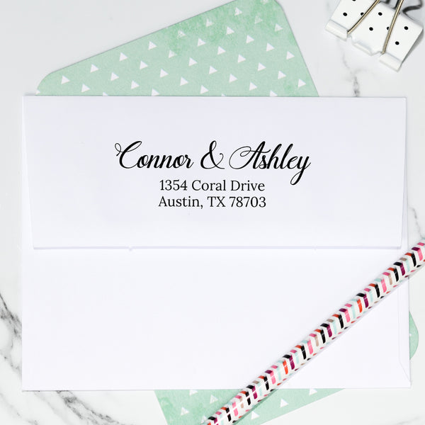 Coral Custom Return Address Stamp D400
