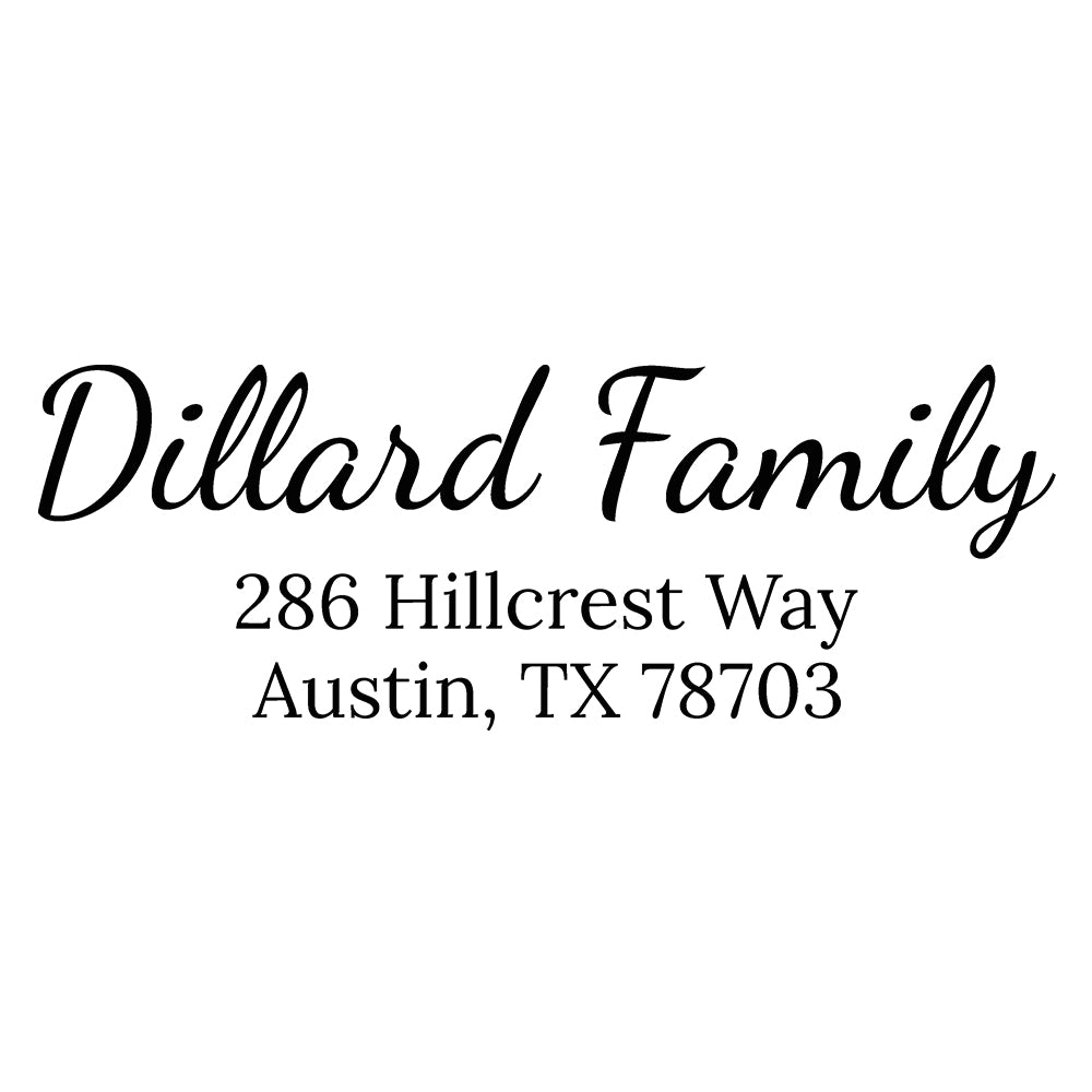 Hillcrest Self Inking Return Address Stamp  D401