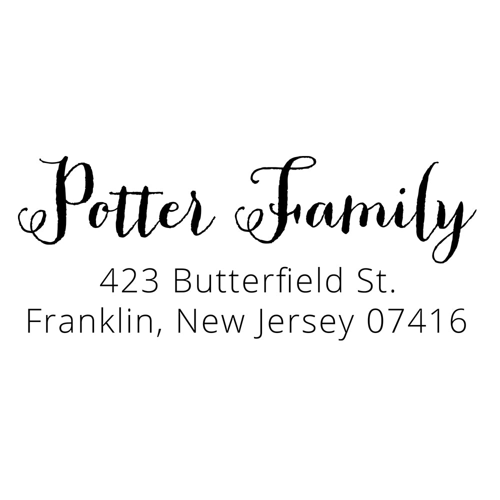 Butterfield Return Address Stamp D411