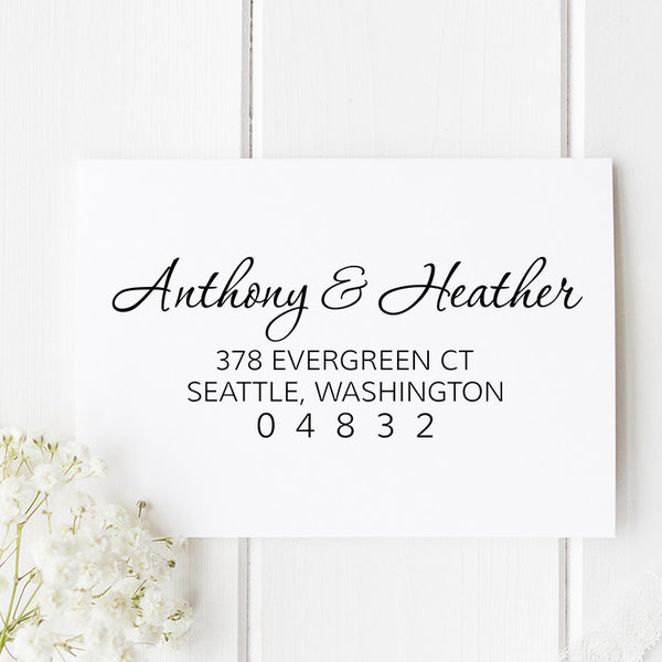 Evergreen Return Address Stamp  D77