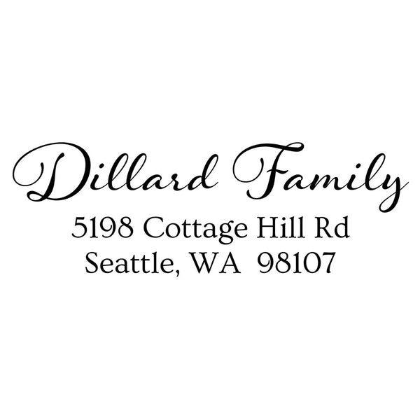 Dillard Family Custom Address Stamp D92