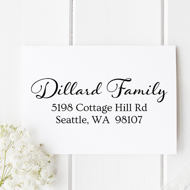 Dillard Family Custom Address Stamp - Stamp Nouveau