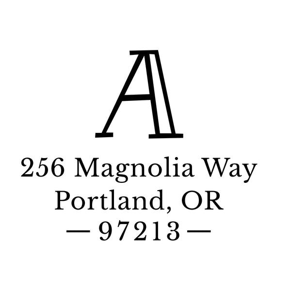 Fun Monogram Return Address Stamp D183