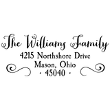Williams Family Custom Address Stamp D1 - Stamp Nouveau