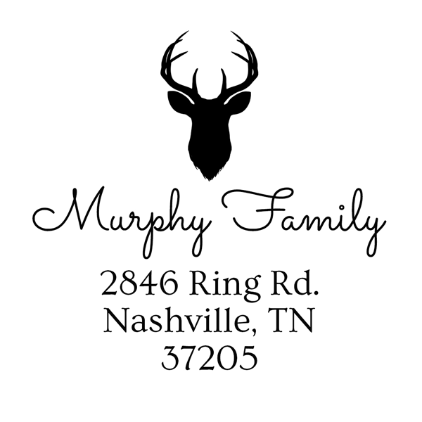 Murphy Family Custom Address Stamp D20