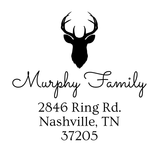 Murphy Family Custom Address Stamp D20 - Stamp Nouveau
