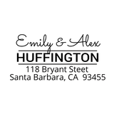 Huffington Custom Address Stamp - Stamp Nouveau