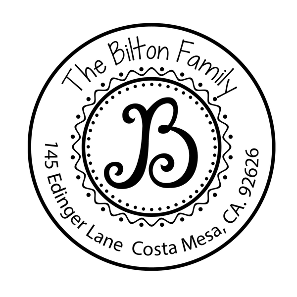Bilton Custom Address Stamp D42