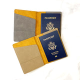 Leather Personalized Passport Holder - Stamp Nouveau
