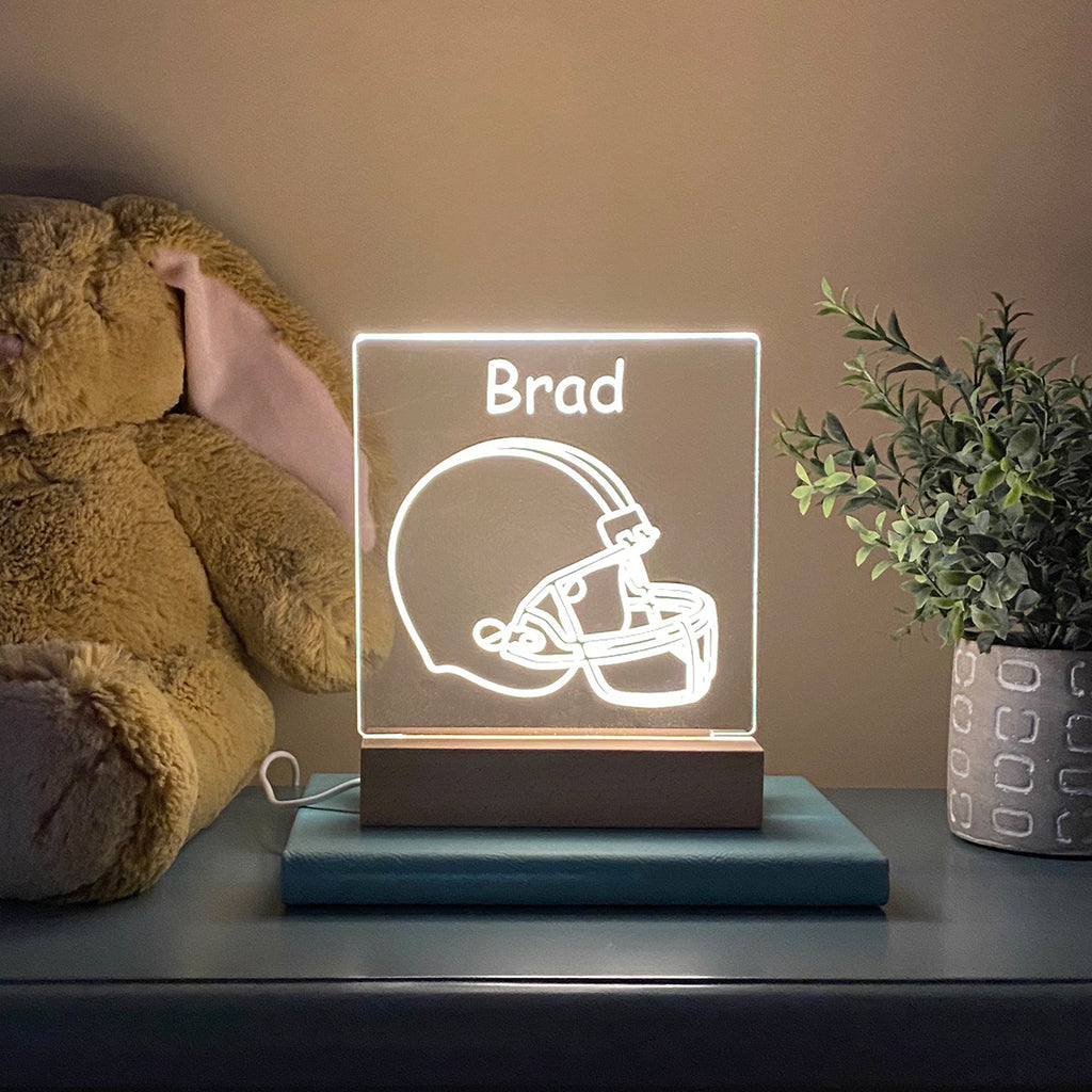 Football Personalized Night Light Kids Room - Stamp Nouveau