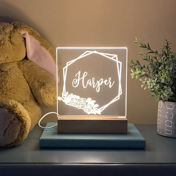 Geo Metric Personalized Night Light
