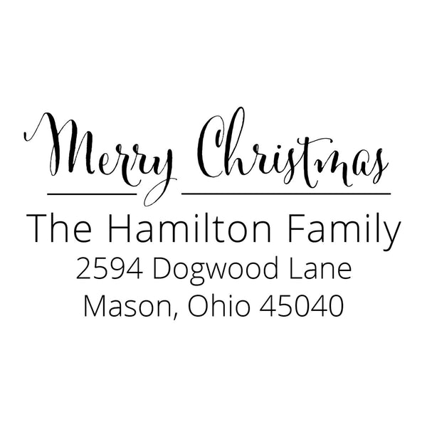 Christmas Holly Return Address Stamp