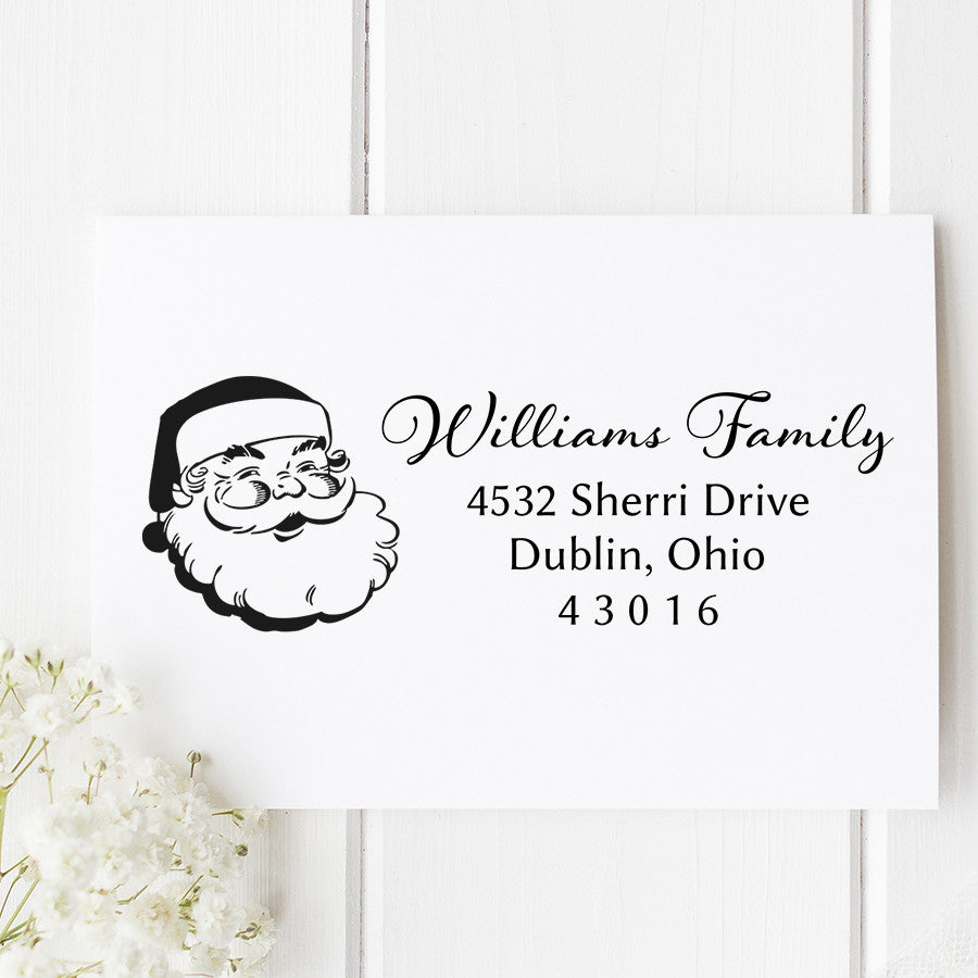 Santa Claus Return Address Stamp H26